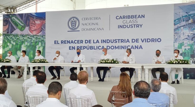 The Dominican Republic container glass manufacturng facility will produce 500 million bottles a year.