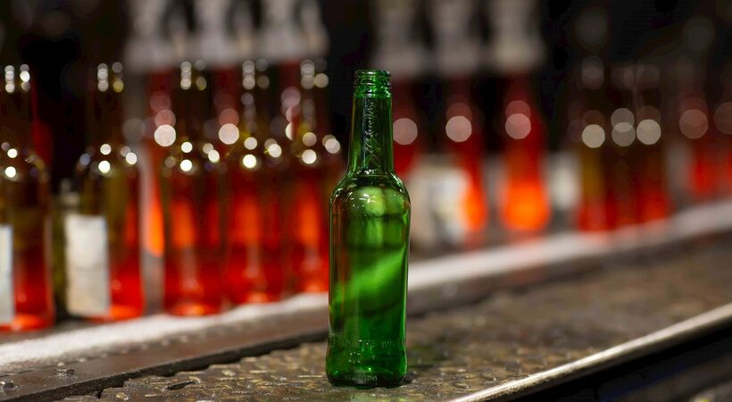 Encirc and Carlsberg are trialing a beer bottle which was made with 100% biofuel energy.