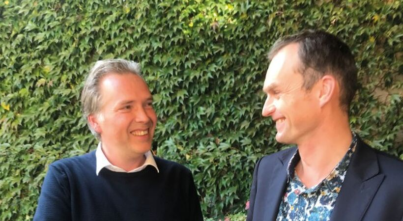 Pictured are: Piotr Knast (CEO Forglass, right) and Andries Habraken (Segment Leader CelSian, left)