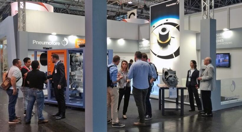 Pneumofore presented supply solutions at glasstec