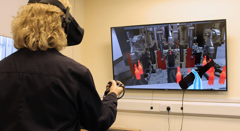 Virtual reality helping to train Beatson Clark operators