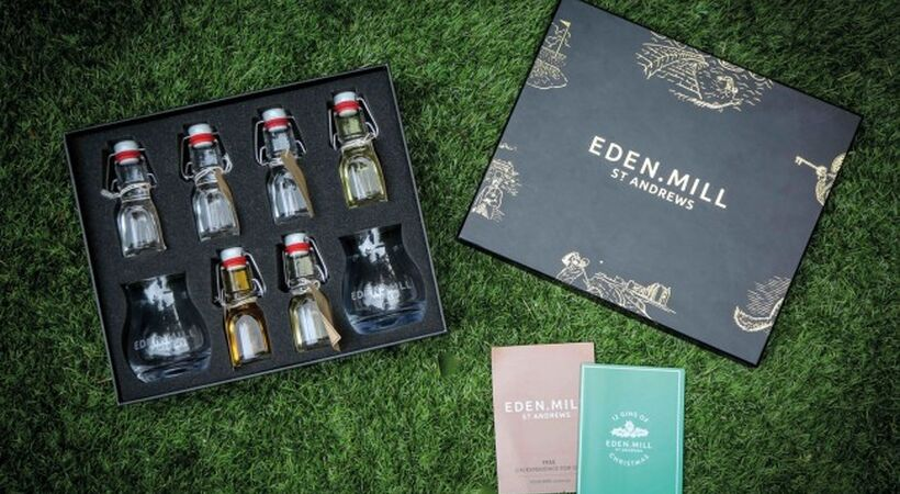 Croxsons celebrates success of Eden Mill's '12 Gins of Christmas' stylish miniatures