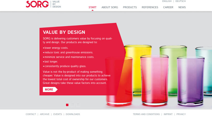 Sorg relaunches website with new corporate design
