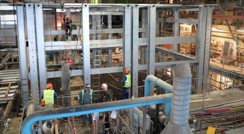 Completion of amber furnace at Beatson Clark