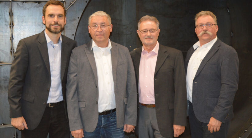 The selling team of LWN-Lufttechnik consists of (from left to right): Mr Dipl. Wirt.-Ing. Johann Keyserlingk Mr Dr Ing. Frank Lohbach Mr Dipl.-Ing. Wieland Wittig and Michael Nisius.